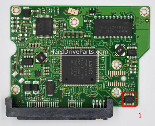 ST3250310AS Seagate Harde Schijf PCB Printplaten 100468303