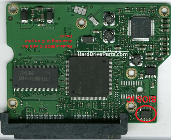 100496208 Printplaat Harde Schijf PCB Seagate STM3320614AS