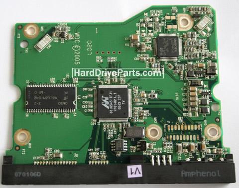 2060-701383-001 REV A / REV P1 / REV P2 WD Harde Schijf PCB Printplaat