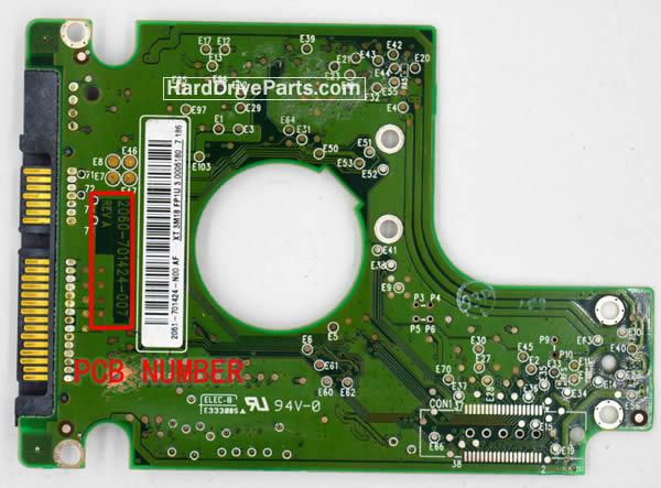 2060-701424-007 REV A / REV P1 / REV P2 WD Harde Schijf PCB Printplaat