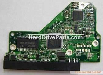 2060-701537-002 REV A / REV P1 / REV P2 WD Harde Schijf PCB Printplaat