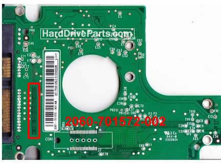 2060-701572-002 REV A / REV P1 / REV P2 WD Harde Schijf PCB Printplaat