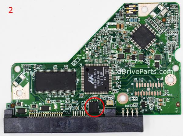 2060-701640-001 REV A / REV P1 / REV P2 WD Harde Schijf PCB Printplaat