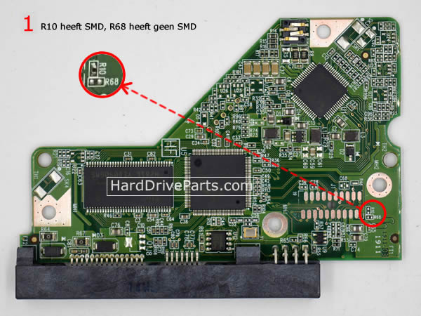 2060-771640-003 Printplaat Harde Schijf PCB WD WD10EADS