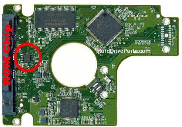WD3200BEKT Western Digital Harde Schijf PCB Printplaten 2060-771672-004