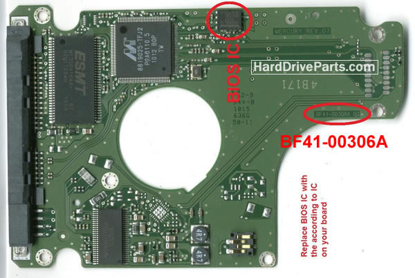 BF41-00306A Samsung Harde Schijf PCB Printplaat