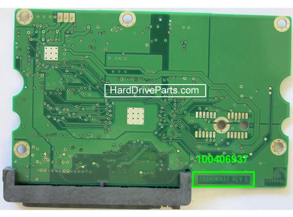 PCB Printplaat Vervangen van Harde Schijf Seagate barracuda 7200.9