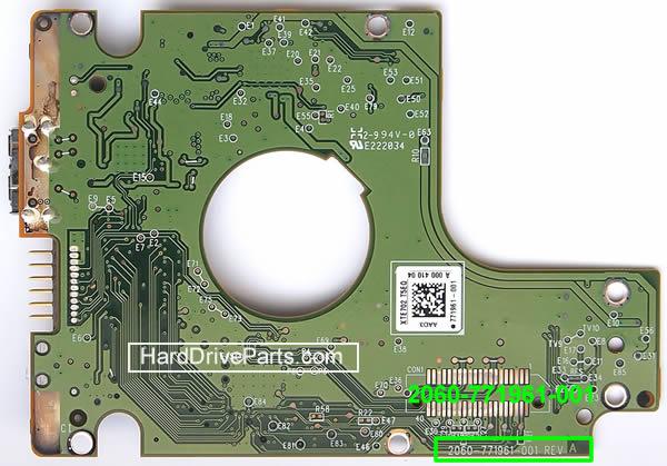 PCB Printplaat Vervangen van Harde Schijf Western Digital 2.5