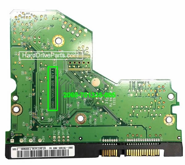 PCB Printplaat Vervangen van Harde Schijf Western Digital 3.5